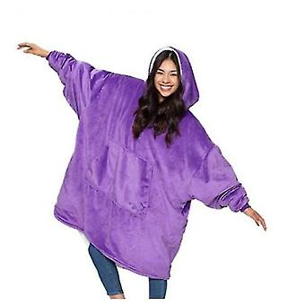 Ladies Thickened Double-sided Lazy Clothes(Purple)