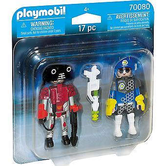 Playmobil 70080 Space politimann og tyv duo pakke