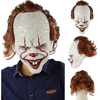 Pennywise IT Clown Mask Deluxe Latex Over Head Halloween Horror Clown Mask