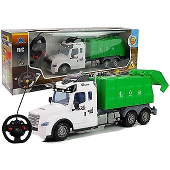 RC-roska-auto kauko-ohjaimella - vihreä valkoisella