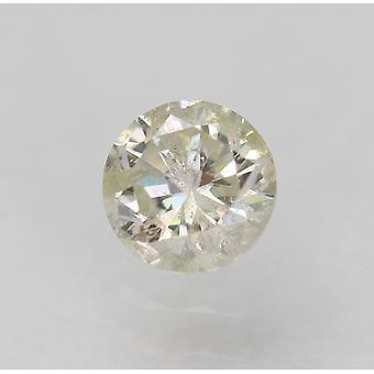 معتمد 0.30 قيراط H لون SI2 جولة رائعة الماس فضفاضة الطبيعية 4.17mm