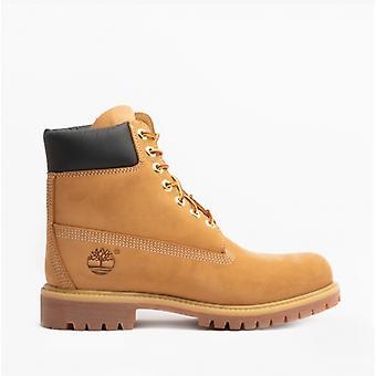 """تيمبرلاند 6 """"بريميوم الرجال أحذية الكاحل الجلدية الأصفر"""