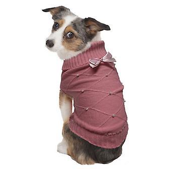 Fashion Pet Flirty Pearl Dog Sweater Pink - Small