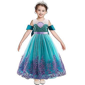 Új sellő csipke hercegnő ruha, nyári hercegnő ruha lányoknak.(100cm)