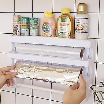 Keuken opslag rack handdoek hanger houder tin folie opslag rack keuken accessoires cling film saus