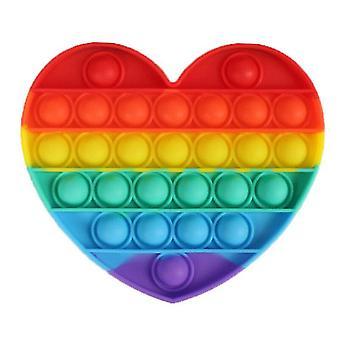 Magic novelties 2 pcs rainbow bubble fidget toy heart sensory toy
