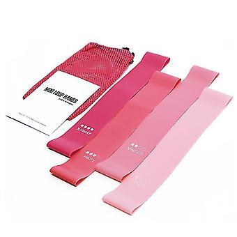 5 Stück Fitness Yoga Widerstandsbänder (Pink)
