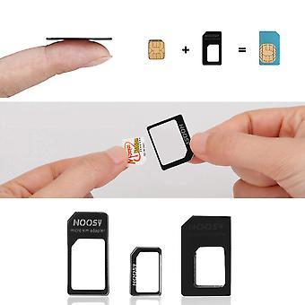 3 In 1 Nano Sim To Micro Standard Sim Microsim Adaptor Adapter For Iphone 5