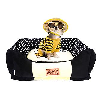 Quadratische Haustiere Bett Plüsch Warm Hundehaus Abnehmbare Pp Baumwolle Katze Hund Schlafbett