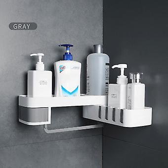 Shower Rack Seamless Rotating Tripod Household Wall-mounted Storage Rack Multifunctional Accessory Set