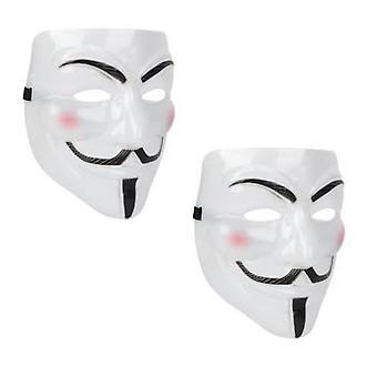 2 Pack V Pour Vendetta Masque Masque Halloween Hacker Masque Anonyme Guy Masque De Fête Masque