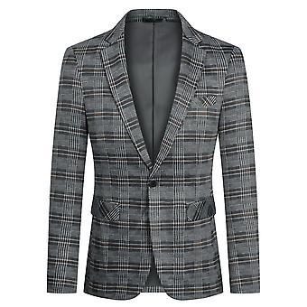 Yunyun Costume pour hommes Blazer One Button Jacket Business Casual Coat