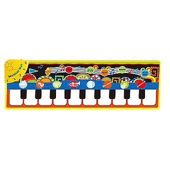 Swotgdoby الاطفال الالكترونية الموسيقية البيانو لوحة المفاتيح Playmat، بطانية لعبة للبنين الفتيات الطفل