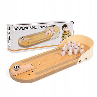 Holz Mini Bowling Brett Spiel Spielzeug für Kinder Eltern-Kind-Interaktion