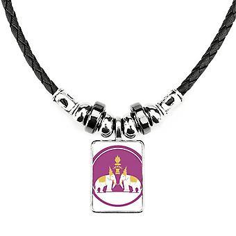 Thajsko vyrobené v Thajsku dva náhrdelníky elephant shield