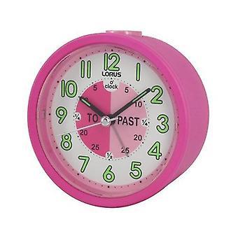 Lorus Time Teacher Beep Alarm Clock - Pink (LHE034P)