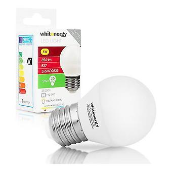 Whitenergy E27 LED B45 Screw Fit Light Bulb 5W 230V  White Warm