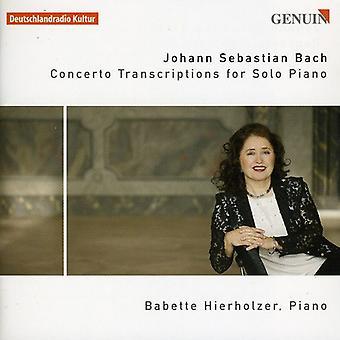 J.S. Bach - Bach: Concerto Transcriptions for Solo Piano [CD] USA import