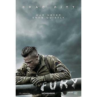 Fury elokuvajuliste (11 x 17)