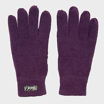 Peter Storm Women'sThinsulate Knit Fleece Gloves Purple