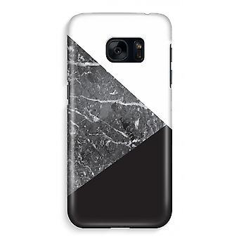 Samsung S7 pieno stampa caso - combinazione di marmo