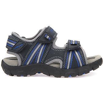 Geox pojkar Strada J4224A sandaler marinblå mörk Royal