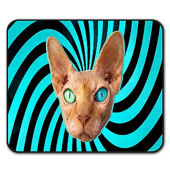 Sphynx Kitty Cute Eye  Non-Slip Mouse Mat Pad 24cm x 20cm | Wellcoda