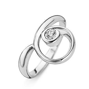 Orphelia srebro 925 pierścień krzywej biały cyrkonu ZR-3773