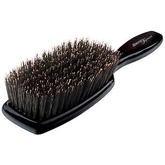 Escova de cabelo de cerdas puro do Hercules Sagemann L preto madeira