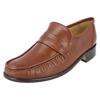 Mens Thomas Blunt Leather Classic Moccasin Slip On Shoe - Clapham