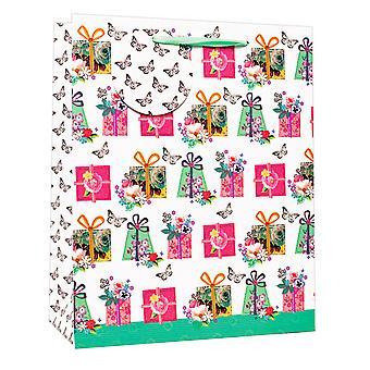 Simon Elvin Floral Design Birthday Gift Bags (Pack of 6)