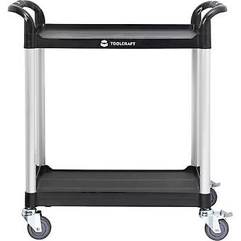 TOOLCRAFT 1296213 Shelf trolley Cor:Preto, Prata