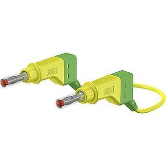 Stäubli XZG425/SIL Safety test lead [Banana jack 4 mm - Banana jack 4 mm] 0.5 m Green-yellow