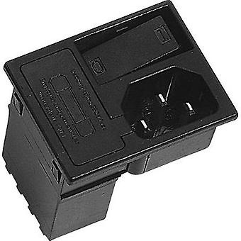 K & B 42R3731404150 IEC connector 42R Series (mains connectors) 42R Plug, vertical mount Total number of pins: 2 + PE 10 A Black 1 pc(s)