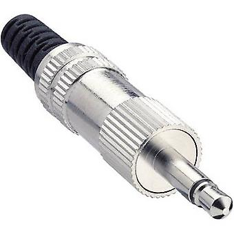 Lumberg KLS 22 3.5 mm jack audio Plug, droite nombre de broches: 2 Mono Silver 1 PC (s)