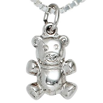 Pendant Teddy bear silver pendants bear 925 sterling silver rhodium plated