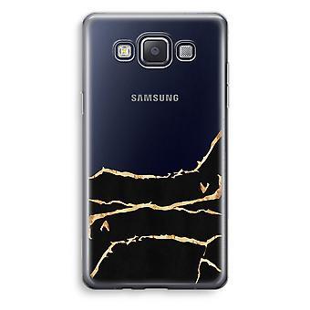 Samsung Galaxy A3 (2015) gjennomsiktig sak (myk) - gull marmor
