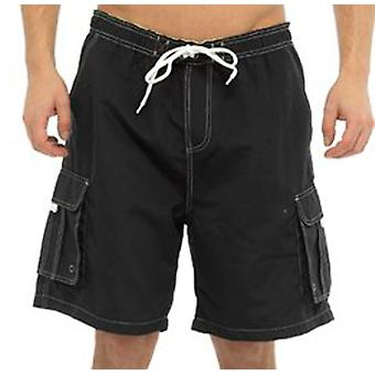 Mens Tom Franks Contrasting Summer Beach Swim Pool Shorts With Inside Mesh Liner
