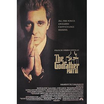 The Godfather III Poster Al Pacino praying