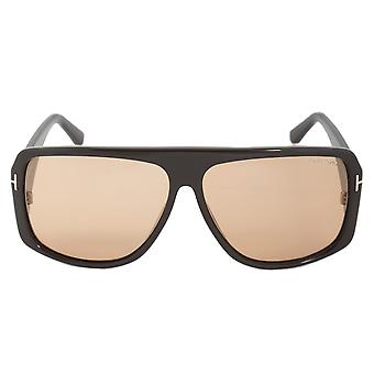 FT0433 occhiali da sole di Tom Ford Harley 48J | Cornice marrone | Roviex lente
