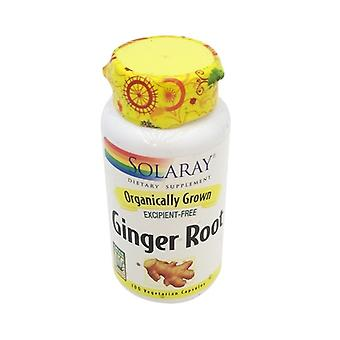 Solaray Organically Grown Ginger Root, 100 Vcap