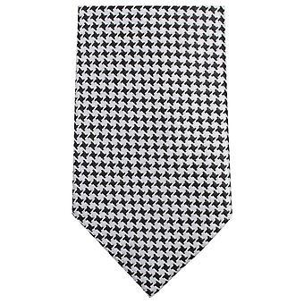 Knightsbridge Neckwear lite firkantet mønster Tie - svart/hvit