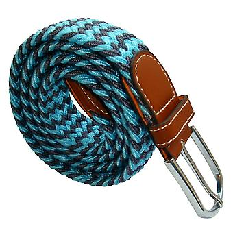 Bassin and Brown Two Tone Woven Belt - Blue/Grey