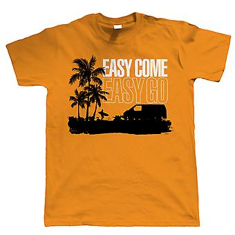 Easy Come Easy Go T4 Campervan T Shirt - Transporter - Gift for Him Dad
