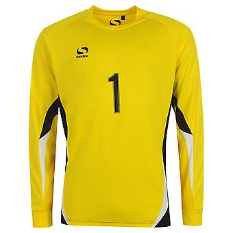 Sondico niños Juniors portero fútbol T camiseta Top manga larga cuello redondo de la base