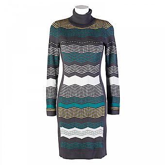 Tuzzi Polo Neck Knit Dress