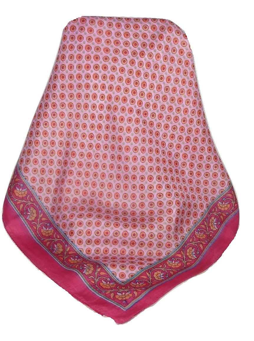 Mulberry Silk Contemporary Long Scarf Wazir Cerise by Pashmina & Silk