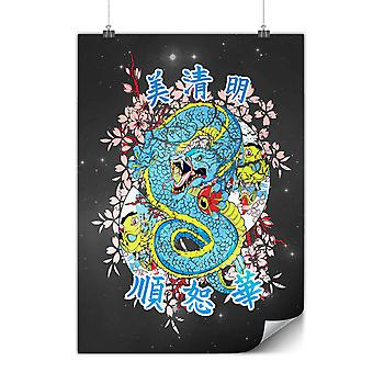 Matte or Glossy Poster with Dragon Chinese Legend | Wellcoda | *d885