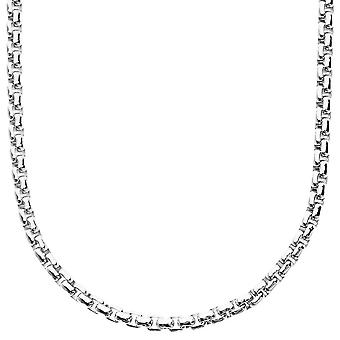 Iced out collier boîte ronde bling - 4mm - 90cm