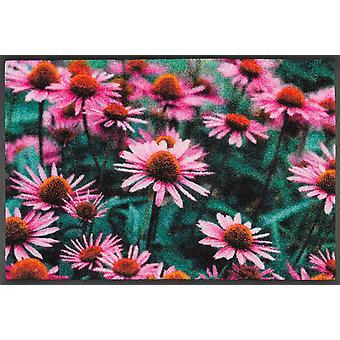 lavado + alfombra felpudo seco suciedad lavable purpurea de 50 x 75 cm.